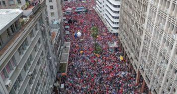 Ato em apoio a Lula na Esquina Democrática, em Porto Alegre (Foto: Ricardo Stuckert/Divulgação)