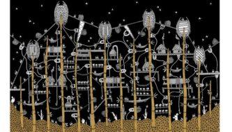 A cidade de Zenobia, de Italo Calvino, por Karina Puente; arquiteta quer ilustrar 55 cidades criadas por autor italiano (Reprodução)