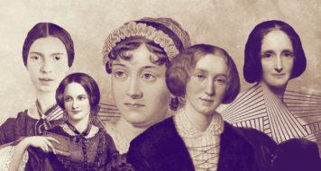 Emily Dickinson, Emily Brontë, Jane Austen, George Eliot, Mary Shelley (Arte Revista CULT)