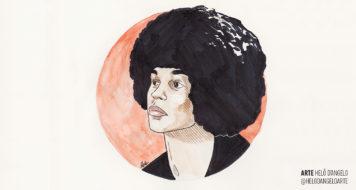 Angela Davis ilustrada pela jornalista Helô D'Angelo