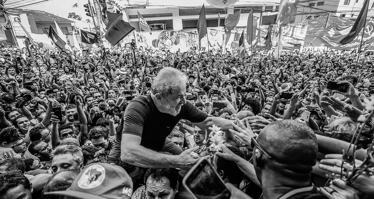 Petista fez último ato público antes da prisão na sede do Sindicato dos Metalúrgicos de São Bernardo do Campo (SP) - Créditos: Foto: Ricardo Stuckert