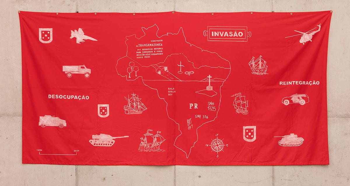 Invasão, de Jaime Lauriano, 2017 (Foto Filipe Berndt / Divulgação)