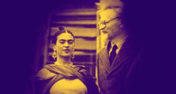 A artista mexicana Frida Kahlo e o político soviético Leon Trótski em 1937 (Fotoarena/ Reprodução)