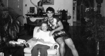 Hilda Hilst e Daniel Fuentes na Casa do Sol (Foto Instituto Hilda Hilst)