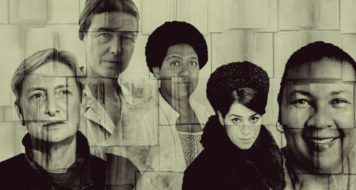 Judith Butler, Simone de Beauvoir, Audre Lorde, Marjane Satrapi e Bell Hooks (Arte Andreia Freire / Divulgação)