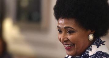 Winnie Madikizela-Mandela em seu aniversário de 80 anos (Foto: GCIS)