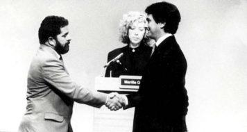 Lula e Collor em debate presidencial em 1989 (Reprodução)