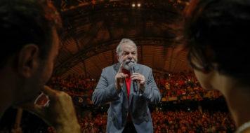 Lula no Ato em defesa da democracia e por justiça para Marielle e Anderson, no Rio de Janeiro (Foto Ricardo Stuckert)