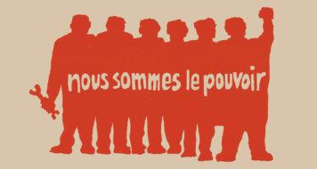 """Cartaz impresso no Atelier Populaire: """"Nós somos o poder"""", 1968 (Reprodução)"""