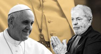 O caso de uma suposta notícia falsa sobre um terço que teria sido abençoado pelo papa e presenteado a Lula foi pedagógico para se entender os limites desta concepção de checagem (Arte Andreia Freire)