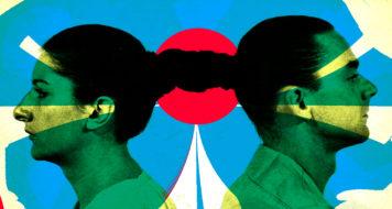 """Performance de Marina Abramovic e Ulay, """"Relação no tempo"""", em 1977 (Reprodução/ Arte Revista CULT)"""