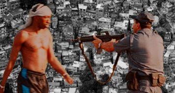 """""""Mira da lei"""", foto tirada por Nilton Claudicio da Silva, na Maré. Foi vencedora do Prêmio Vladimir Herzog de Anistia e Direitos Humanos de 2002 (arte revista CULT)"""