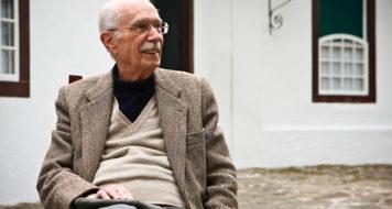 O crítico literário e professor Antonio Candido (Foto Letícia Moreira)