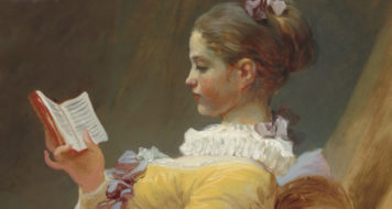leitura: 'La Liseuse', pintura de Jean-Honor Fragonard