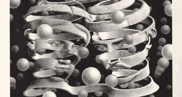 """Bond of Union"" de M.C. Escher, 1956 (Museu Herakleidon, Atenas)"