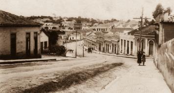 Cidade natal do escritor Raduan Nassar, década de 1930 (Arquivo Prefeitura de Pindorama)