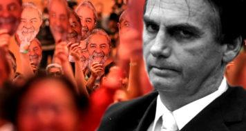 Bolsonarismo e Lulismo. Manifestação pró-Lula, em 2018 (Ricardo Stuckert), e Bolsonaro (Reprodução)