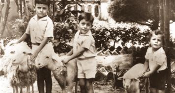 À esquerda Raja; ao centro, Rames; à direita Raduan, 1937 (Arquivo Prefeitura de Pindorama)
