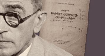 Primeira versão da folha de rosto de Vidas secas, com marcas de revisão do autor (Editora Record / Divulgação)