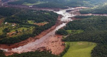 Região atingida pelo rompimento da barragem Mina Córrego do Feijão, em Brumadinho/MG (Foto Isac Nóbrega/PR)
