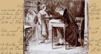 Søren Kierkegaard em um café, de Christian Olavius Zeuthen, 1843 (Arte Revista Cult)