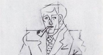 Estudo para o retrato de Guillaume Apollinaire, Jean Metzinger, 1911