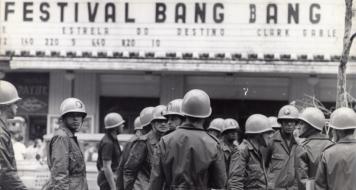 Soldados em manifestação no centro do Rio, 1968 (Arquivo Nacional, Correio da Manhã)