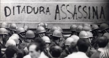 Manifestação no Rio de Janeiro em 1968 contra a ditadura militar. ARQUIVO NACIONAL/CORREIO DA MANHÃ