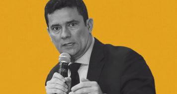 O ministro da Justiça Sérgio Moro (Foto Marcelo Camargo / Agência Brasil / Arte Revista Cult)