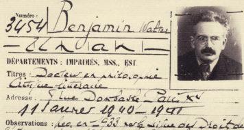 Walter Benjamin, Carteira da Biblioteca Nacional de Paris, 1940 (Reprodução)