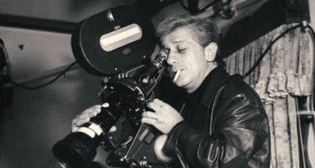 Walter Hugo Khouri (na câmera), durante as filmagens de As filhas do fogo, em 1978 (Acervo família Khouri)