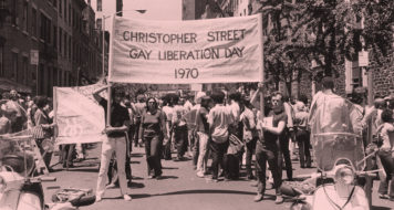 Primeira Marcha do Orgulho Gay, na Christopher Street, em Nova York, exatamente um ano após Stonewall (Foto Leonard Fink / Arquivo da História Nacional do Centro Comunitário LGBT)