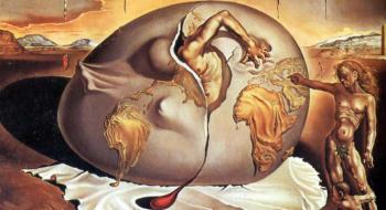 Criança geopolítica observando o nascimento do homem novo
