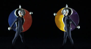 Triadisches Ballett, peça da Bauhaus por Oskar Schlemmer (Foto Wilfried Hosl / Reprodução)