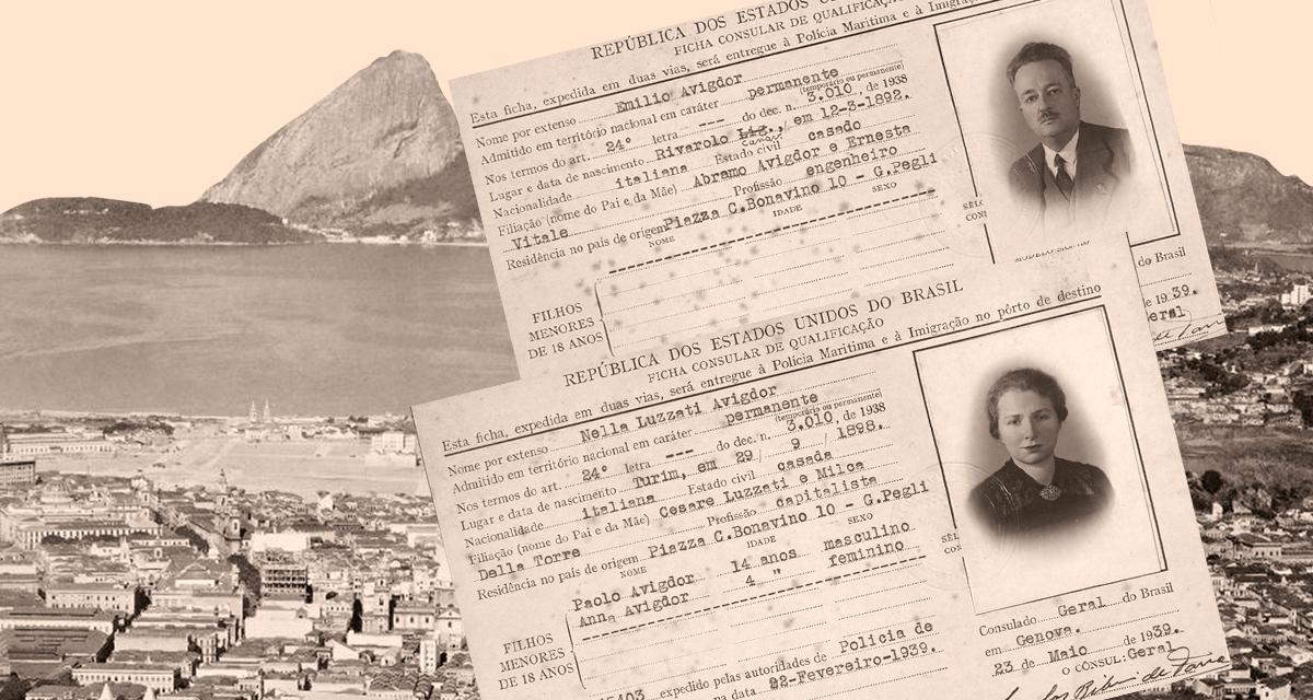 A carta inédita escrita por Primo Levi, foi endereçada a São Paulo, à rua Dona Antônia de Queirós, no bairro da Consolação onde viviam a Tia materna, Nella Luzzati Avigdor, e o marido, o engenheiro Emilio Avigdor (Reprodução)