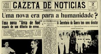 """A psicanálise como """"Arca de Noé"""" na Gazeta de Notícias de fevereiro de 1938"""