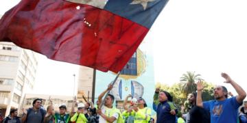 Protesto do dia 21 de outubro, em Santiago, no Chile (Foto: Rodrigo Garrido)