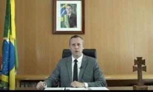 Roberto Alvim, ex-Secretário Especial da Cultura em vídeo que retoma discurso de Joseph Goebbels (Foto: Reprodução)