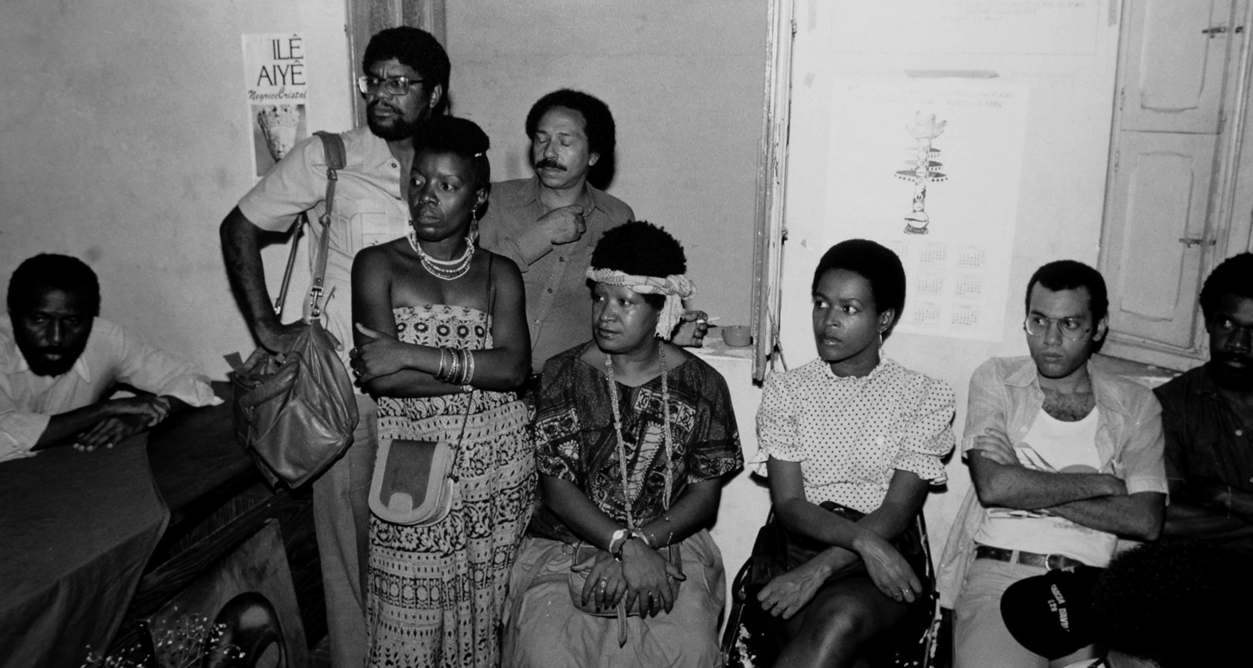 Lélia em reunião no Instituto de Pesquisas das Culturas Negras (IPCN), Rio de Janeiro