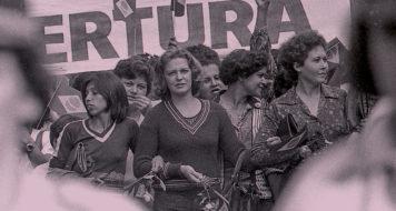 Marisa Letícia na Marcha das Mulheres em São Bernardo do Campo, em 1980 (Foto: hélio campos mello)