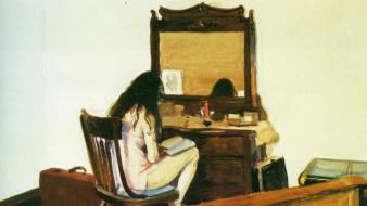 Interior (Model reading) Edward Hopper Data: 1925