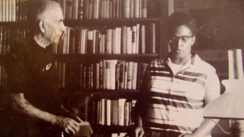 Com Érico Veríssimo, na casa deste, em Porto Alegre (1968)