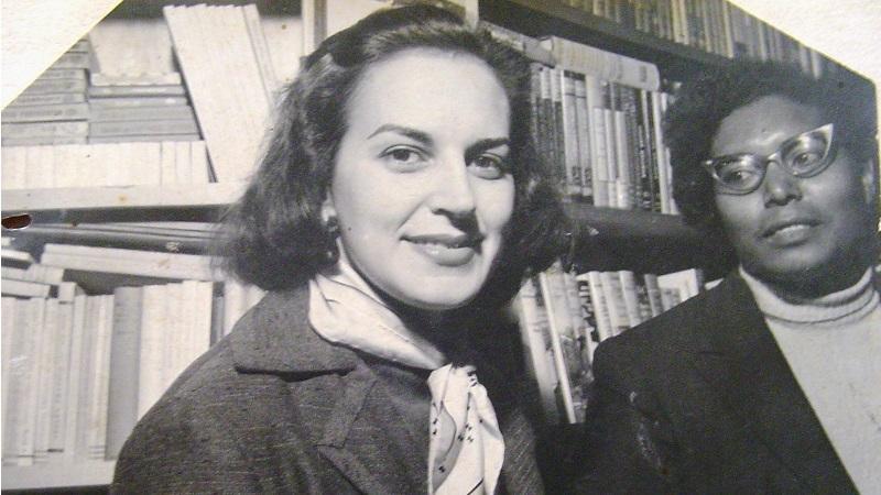 Com Lygia Fagundes Telles, 1950