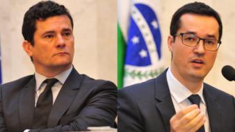Moro e Dallagnol durante audiência pública na Assembléia Legislativa do Paraná (ALEP), em 2016 (Pedro de Oliveira-ALEP)