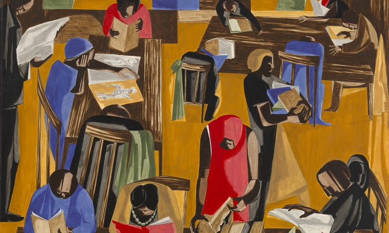 a biblioteca, jacob lawrence