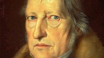 O filósofo alemão Friedrich Hegel