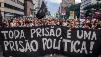 Bloco Anti Cárcere na Marcha da Maconha em SP foto Mídia Ninja