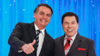 Bolsonaro e Silvio Santos (Reproducão/Democracia e amor)