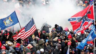 Invasão do Capitóilio, janeiro 2020 (Foto: Shannon Stapleton/ Reuters)