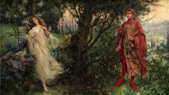 """representação da Beatriz, de """"A divina comédia"""", por Salvatore Postiglione"""
